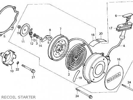 Honda Trx200sx Fourtrax 200sx 1986 g Usa Recoil Starter