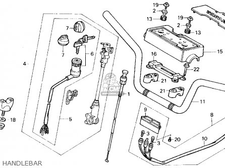 Honda Trx200sx Fourtrax 200sx 1986 Usa Handlebar