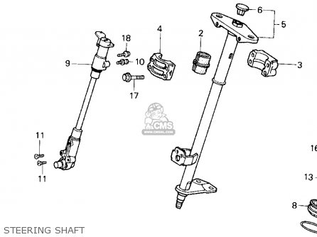 Honda Trx200sx Fourtrax 200sx 1986 Usa Steering Shaft