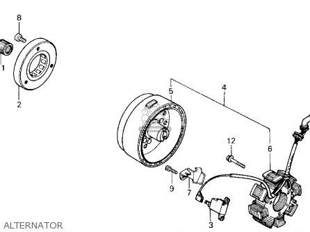 Honda Trx200sx Fourtrax 200sx 1988 j Usa Alternator