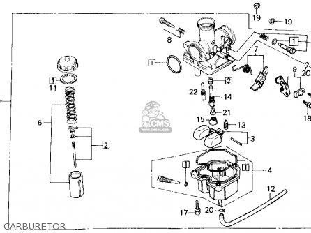 Honda Trx200sx Fourtrax 200sx 1988 j Usa Carburetor