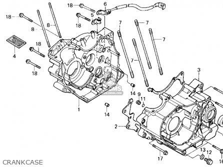 Honda Trx200sx Fourtrax 200sx 1988 j Usa Crankcase