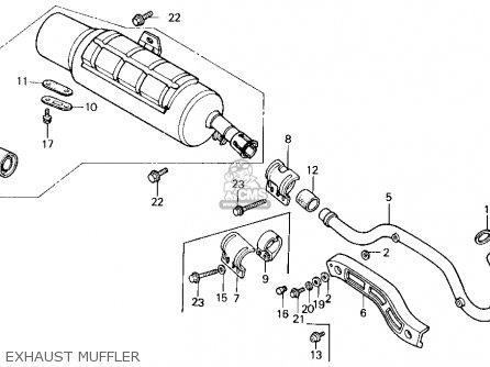 Honda Trx200sx Fourtrax 200sx 1988 j Usa Exhaust Muffler