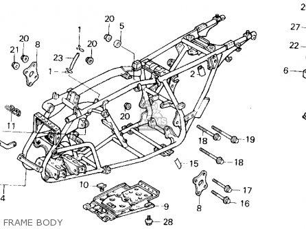 Honda Trx200sx Fourtrax 200sx 1988 j Usa Frame Body