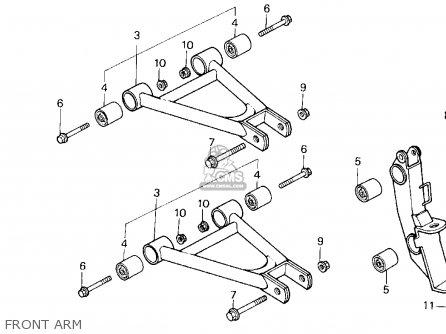 Honda Trx200sx Fourtrax 200sx 1988 j Usa Front Arm