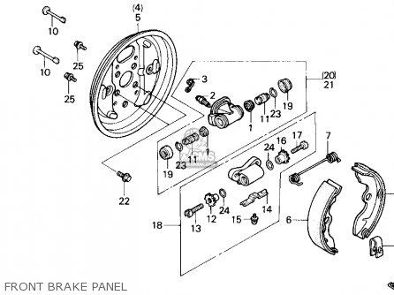 Honda Trx200sx Fourtrax 200sx 1988 j Usa Front Brake Panel