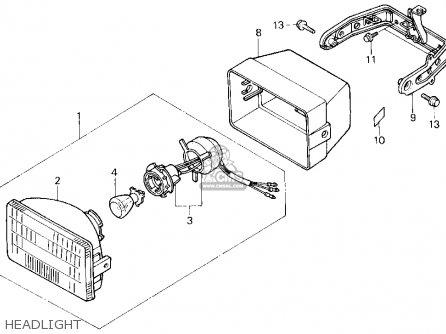 Honda Trx200sx Fourtrax 200sx 1988 j Usa Headlight