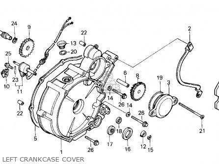 Honda Trx200sx Fourtrax 200sx 1988 j Usa Left Crankcase Cover