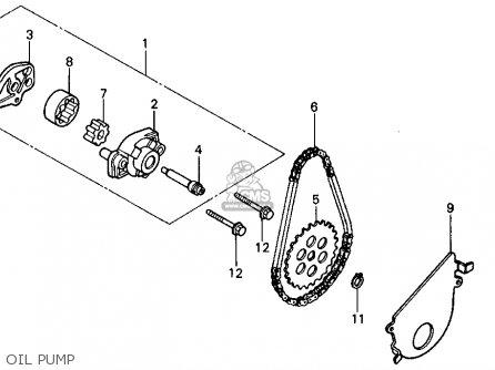 Honda Trx200sx Fourtrax 200sx 1988 j Usa Oil Pump