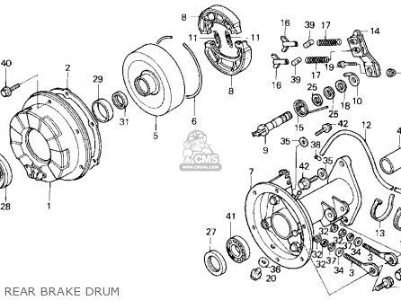Honda Trx200sx Fourtrax 200sx 1988 j Usa Rear Brake Drum