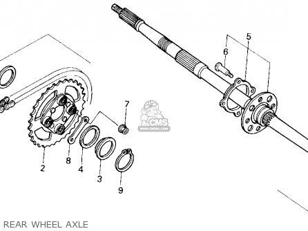 Honda Trx200sx Fourtrax 200sx 1988 j Usa Rear Wheel Axle