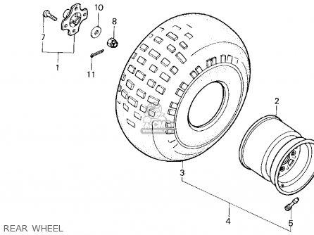 Honda Trx200sx Fourtrax 200sx 1988 j Usa Rear Wheel