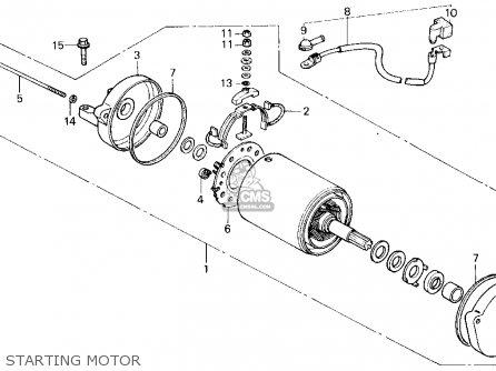 Honda Trx200sx Fourtrax 200sx 1988 j Usa Starting Motor