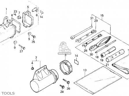 Honda Trx200sx Fourtrax 200sx 1988 j Usa Tools