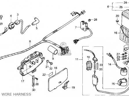 Honda Trx200sx Fourtrax 200sx 1988 j Usa Wire Harness