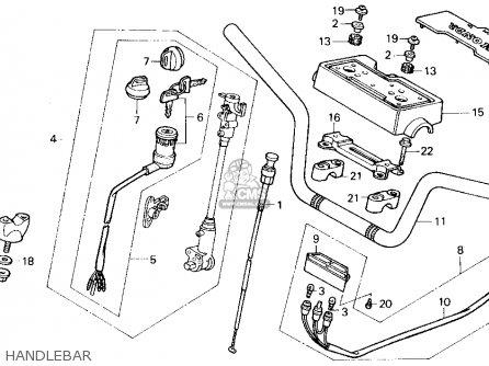 Honda Trx200sx Fourtrax 200sx 1988 Usa Handlebar