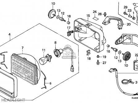 honda trx250 fourtrax 1985  f  canada parts lists and