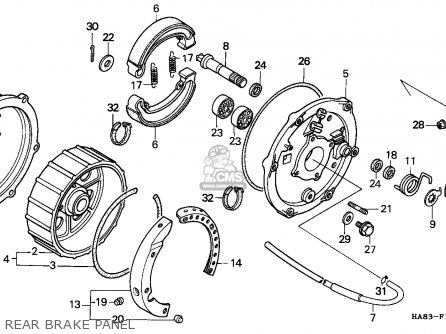 Honda TRX250 FOURTRAX 1985 (F) CANADA TYPE 2 parts lists ...