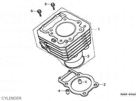 1987 Honda Fourtrax 250 Carburetor Diagram