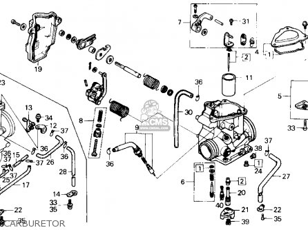Honda Trx250 Fourtrax 250 1985 f Usa Carburetor