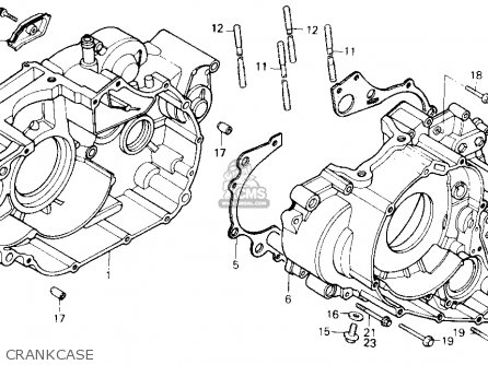 Honda Trx250 Fourtrax 250 1985 f Usa Crankcase