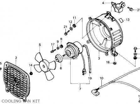 Honda Trx250 Fourtrax 250 1987 h Usa Cooling Fan Kit
