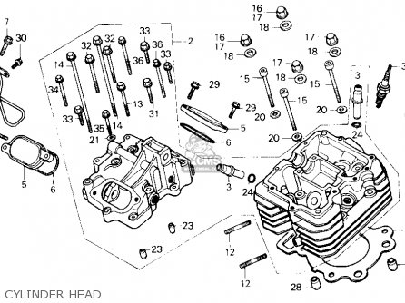 Honda Trx250 Fourtrax 250 1987 h Usa Cylinder Head