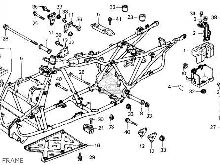 Honda Trx250 Fourtrax 250 1987 h Usa Frame