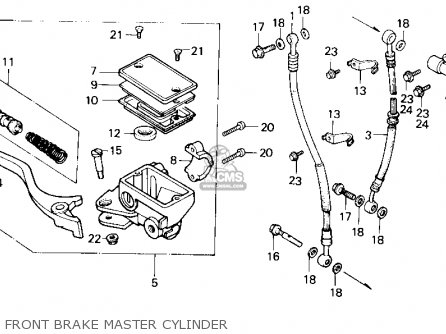 Honda Trx250 Fourtrax 250 1987 h Usa Front Brake Master Cylinder