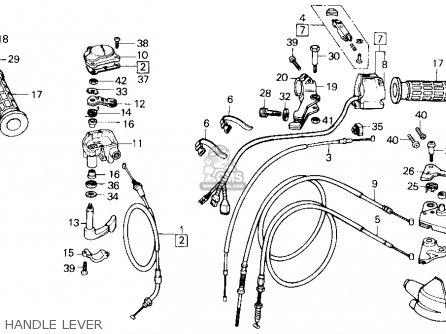 Honda Trx250 Fourtrax 250 1987 h Usa Handle Lever