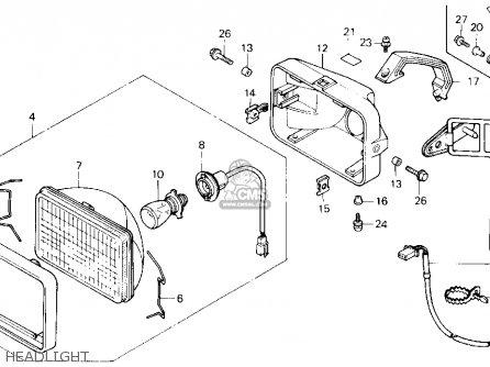 Honda Trx250 Fourtrax 250 1987 h Usa Headlight