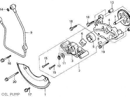 Honda Trx250 Fourtrax 250 1987 h Usa Oil Pump