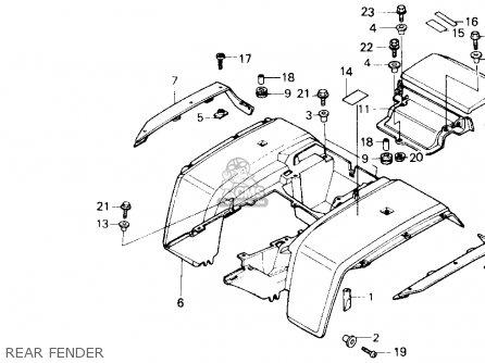 Honda Trx250 Fourtrax 250 1987 h Usa Rear Fender