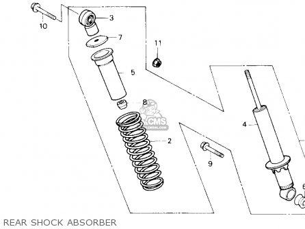 Honda Trx250 Fourtrax 250 1987 h Usa Rear Shock Absorber