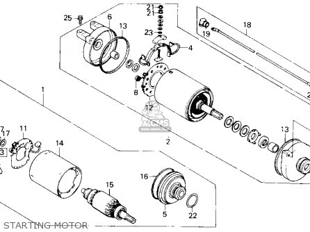 Honda Trx250 Fourtrax 250 1987 h Usa Starting Motor