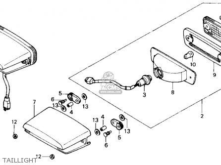Honda Trx250 Fourtrax 250 1987 h Usa Taillight