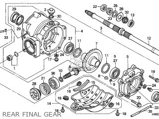 2002 honda 400ex rear diagram