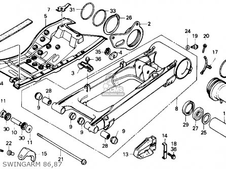 honda trx250r fourtrax 250r 1986 g usa parts lists and schematics Honda 350 FourTrax Wiring-Diagram honda trx250r fourtrax 250r 1986 g usa swingarm 86 87 swingarm 86 87 honda trx250r fourtrax