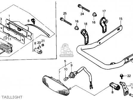 honda trx250r fourtrax 250r 1986 g usa parts lists and schematics Honda FourTrax Engine Diagram honda trx250r fourtrax 250r 1986 g usa taillight