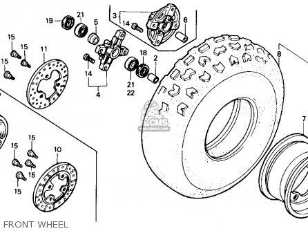 honda trx250r fourtrax 250r 1987  h  usa parts list