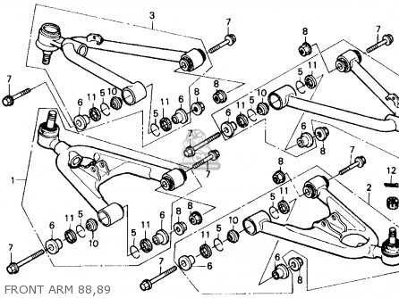 honda trx250r fourtrax 250r 1989 k usa parts lists and schematics Schematic 1999 Honda FourTrax honda trx250r fourtrax 250r 1989 k usa front arm 88 89 front arm 88 89 honda trx250r fourtrax