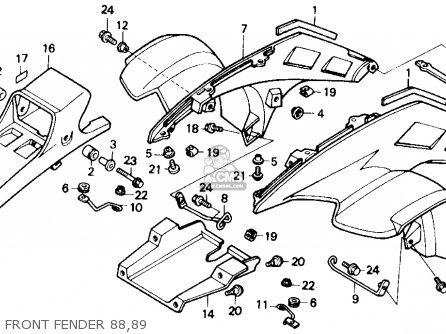 89 Honda 350 Fourtrax Wiring Diagram