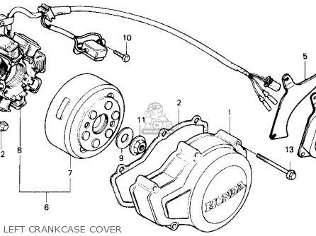 honda trx250r fourtrax 250r 1989 (k) usa left crankcase cover