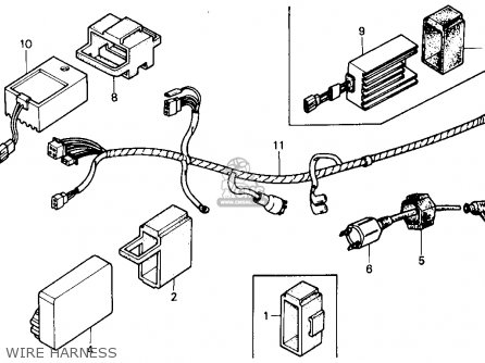 honda trx250r fourtrax 250r 1989 k usa parts lists and schematics Bass Boat Wiring Harness wire harness
