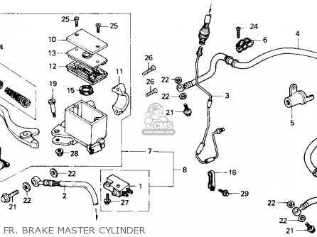 Honda Trx X Fourtrax X H Usa Fr Brake Master Cylinder Mediumhu F A Ca on 1987 Honda Fourtrax 250 Diagram