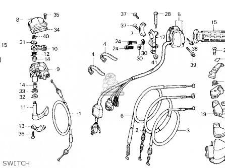 Honda Trx250x Fourtrax 250x 1987 Usa parts list partsmanual partsfiche