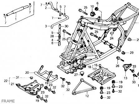 Honda Trx250x Fourtrax 250x 1991 m Usa Frame