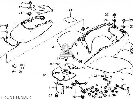 Honda Trx250x Fourtrax 250x 1991 m Usa Front Fender