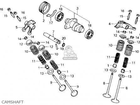 Honda Trx250x Fourtrax 250x 1991 Usa Camshaft