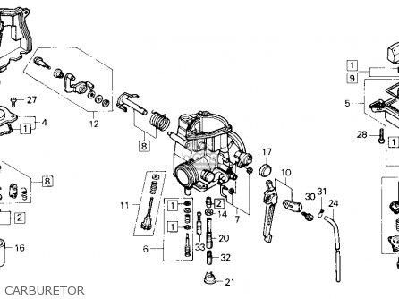 Honda Trx250x Fourtrax 250x 1992 n Usa Carburetor